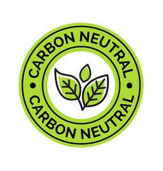 carbon neutral icon stamp co2 energy monoxide vector 30418404