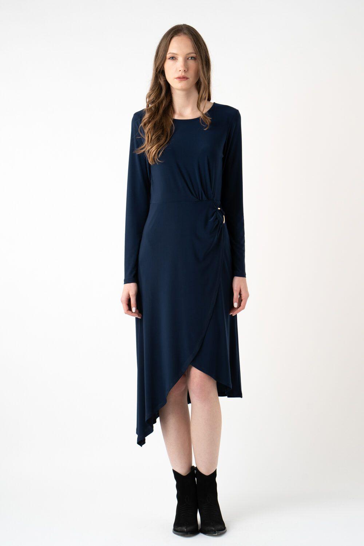 rochie bleumarin asimetrica i21 Carina