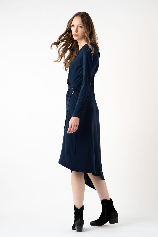 rochie bleumarin asimetrica i21 Carina ETIC 1