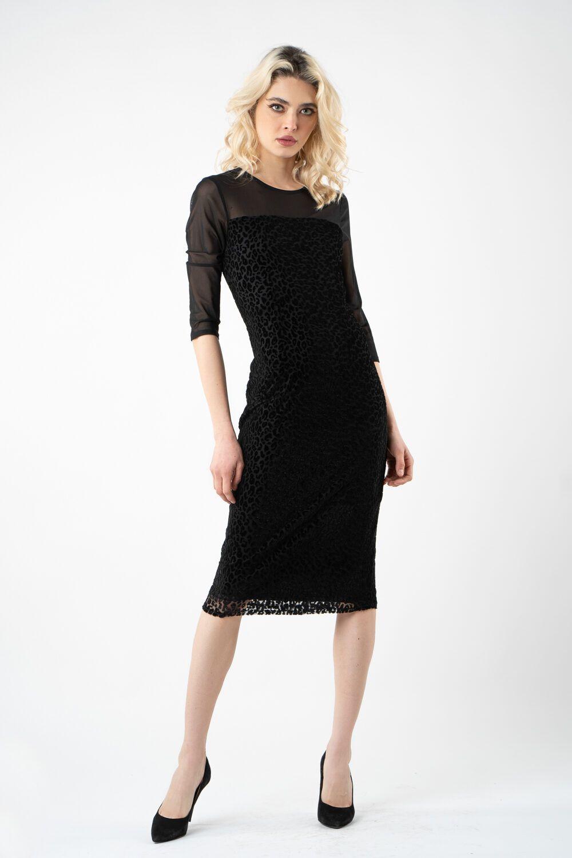 rochie neagra cu imprimeu i21 Mia ETIC 1