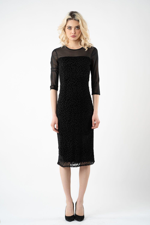 rochie neagra cu imprimeu i21 Mia ETIC