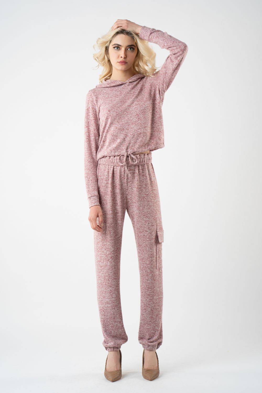 1 pantalon roz din tricot i21 alina
