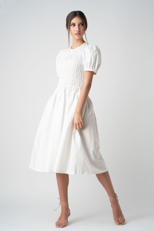 1 rochie alba cu pliuri v21 Diana