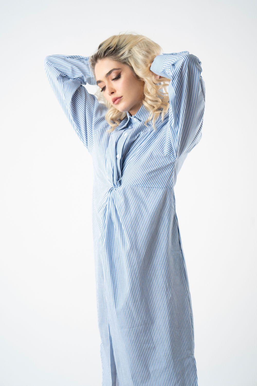 1 rochie bleu cu dungi v21 Augustina