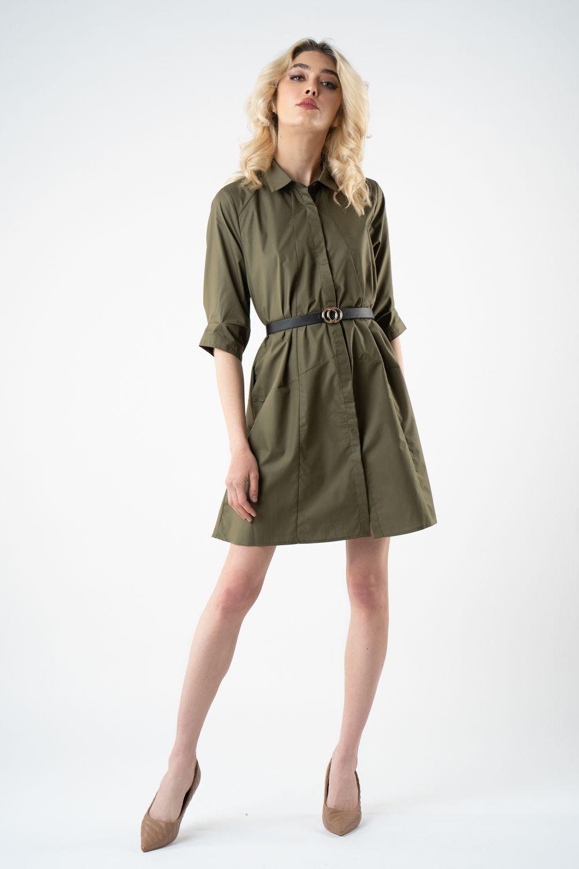 1 rochie kaki scurta v21 Clarisa