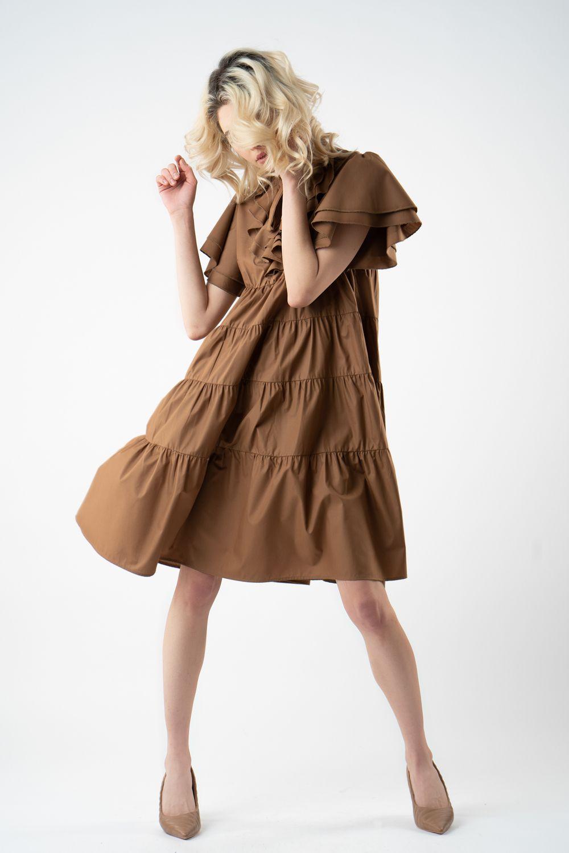 1 rochie maro cu volane v21 Isabela