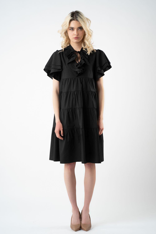 1 rochie neagra cu volane v21 Isabela
