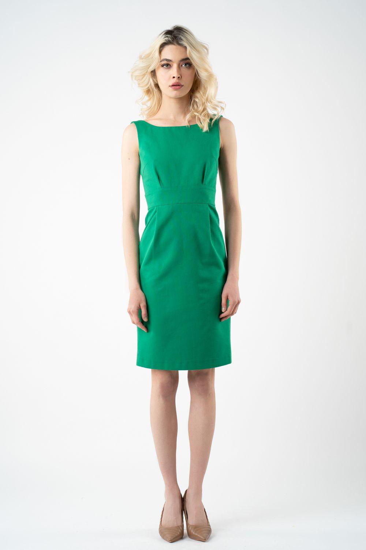 1 rochie verde cu buzunare v21 Bella