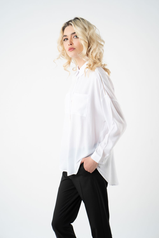 camasa alba cu buzunare v21 Alina ETIC 5