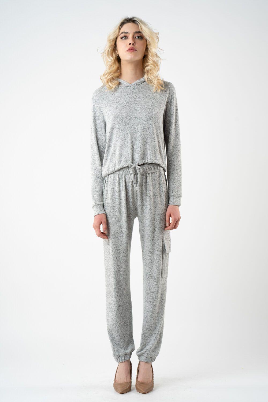 pantalon gri din tricot i21 Alina ETIC 2