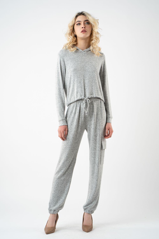 pantalon gri din tricot i21 Alina ETIC