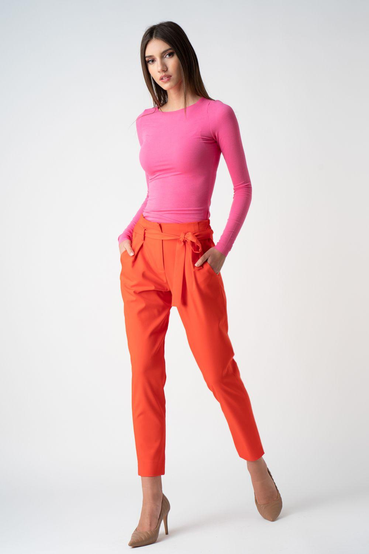 pantalon orange cu cordon v21 Bety