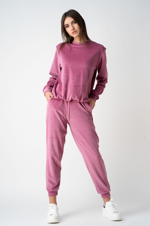 pantalon roz din catifea i21 Oana ETIC 1