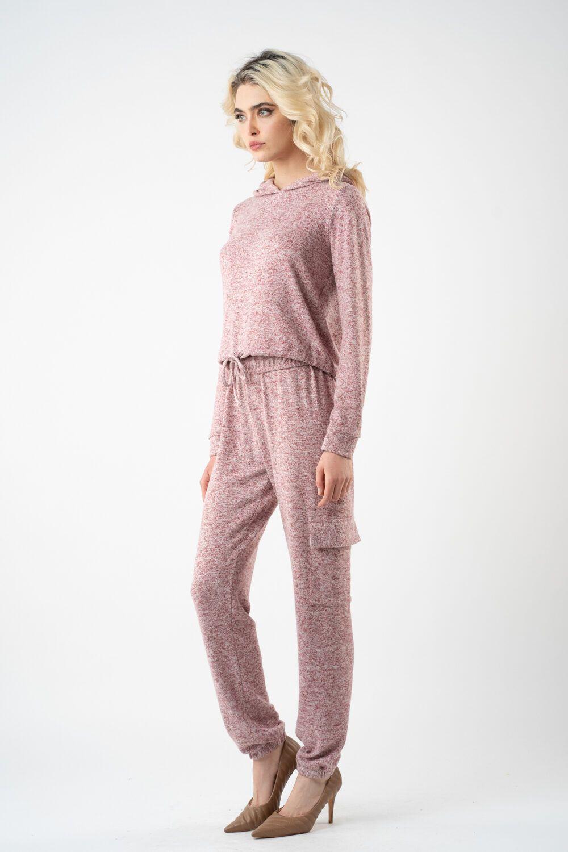 pantalon roz din tricot i21 alina