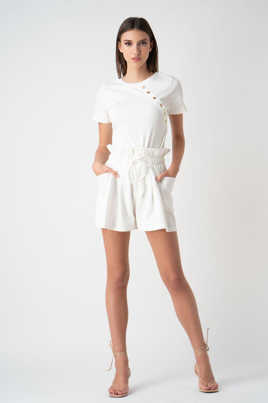 pantalon scurt alb v21 Ina