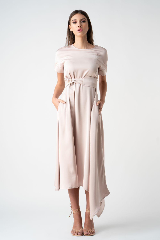 rochie crem asimetrica v21 Lucia