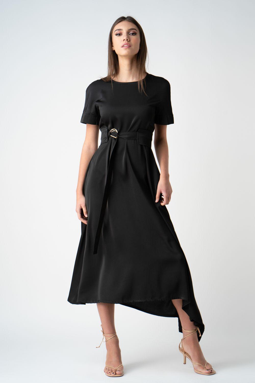 rochie neagra cu maneca scurta v21 Lucia ETIC 1