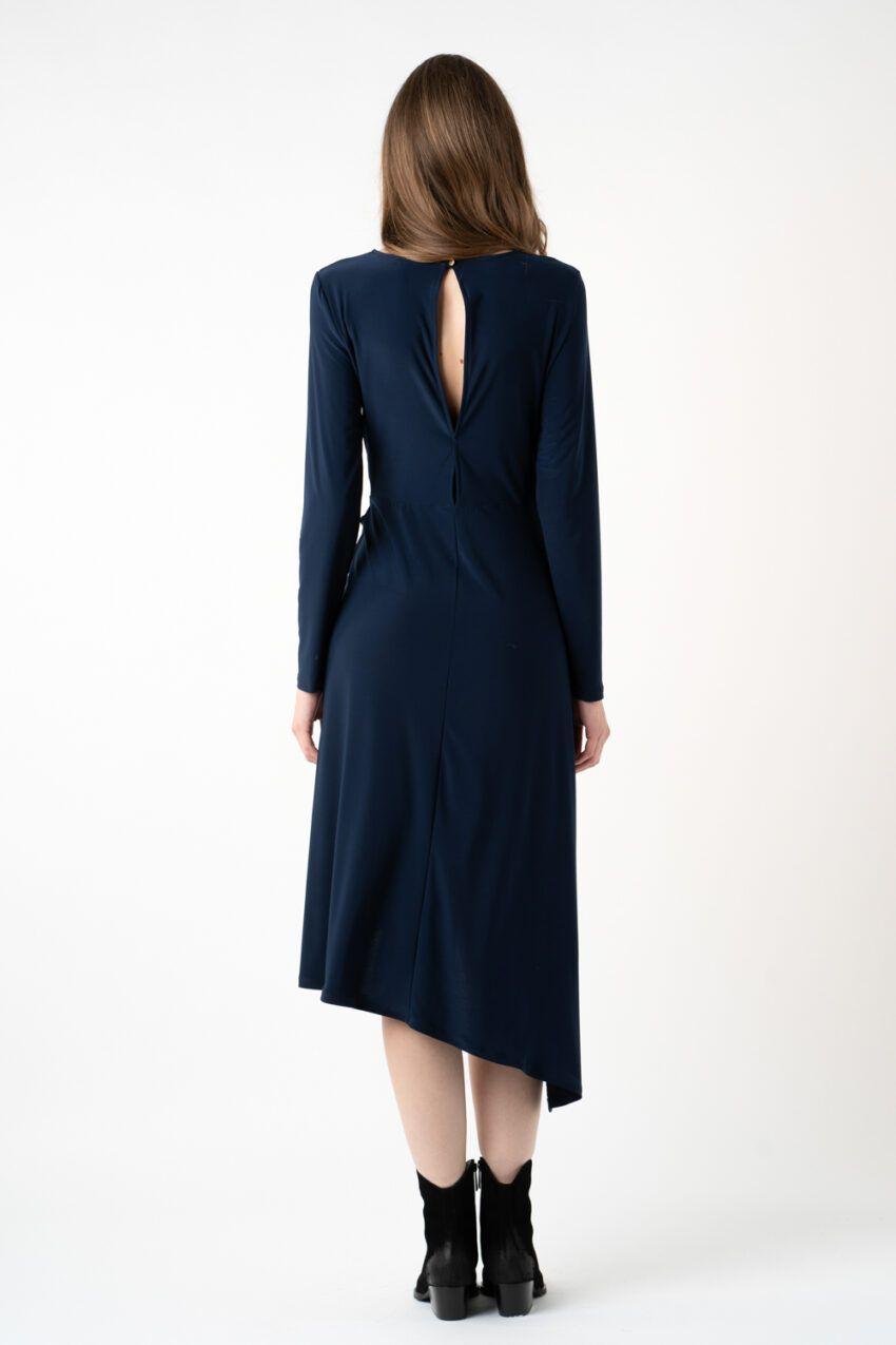 rochie bleumarin asimetrica i21 Carina ETIC
